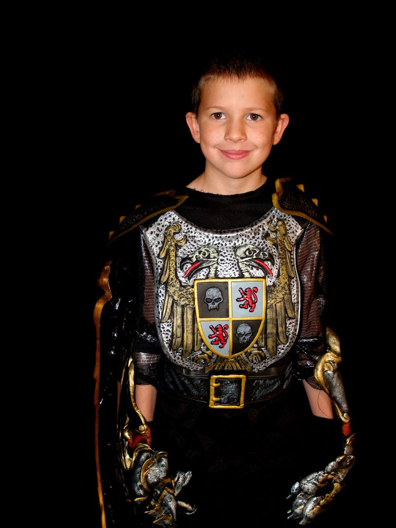 boy dressed as knight