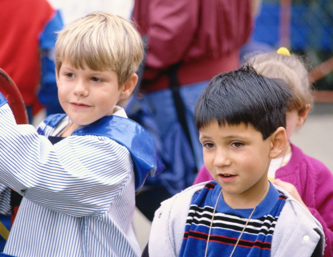 two boy participating